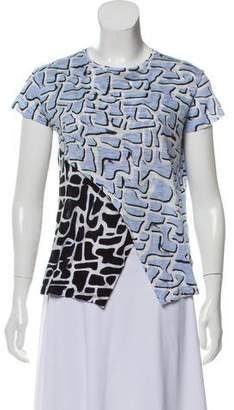 Proenza Schouler Asymmetrical Printed T-Shirt