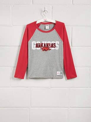 PINK University of Arkansas Sequin Bling Baseball Tee