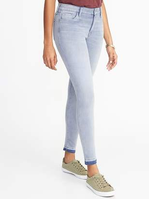 f66d71ad352 Old Navy Mid-Rise Rockstar 24 7 Released-Hem Super Skinny Ankle Jeans