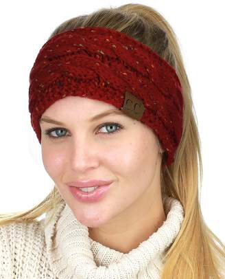3452d72f18d C.C Colorful Confetti Winter Warm Cable Knit Fuzzy Lined Ear Warmer Headband