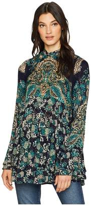 Free People Lady Luck Printed Tunic Women's Blouse