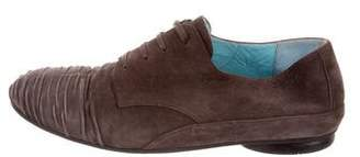 Thierry Rabotin Ruched Suede Oxfords
