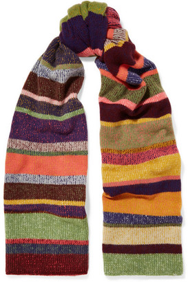 The Elder Statesman - Striped Cashmere Scarf - Red $625 thestylecure.com