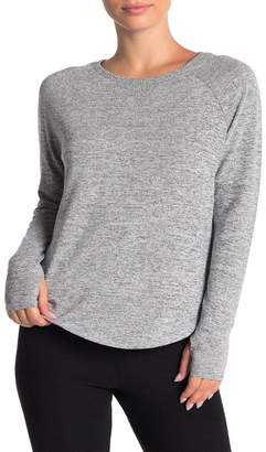 Theo and Spence Yummy Thumbhole Sleeve Knit Pullover