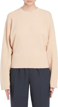 Jil Sander Crepe Pullover Sweater