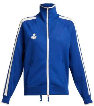 Etoile Isabel Marant Darcy High Neck Zip Through Track Jacket - Womens - Blue