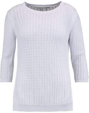 Autumn Cashmere Textured-Cotton Sweater
