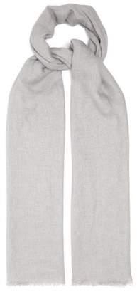 Denis Colomb Samba Loose Weave Slubbed Linen Scarf - Mens - Grey