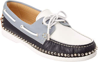 Christian Louboutin Steckel Leather Boat Shoe