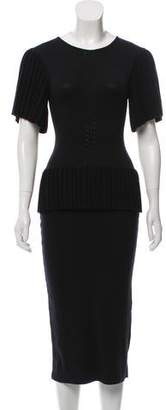 Altuzarra Pleated Peplum Dress