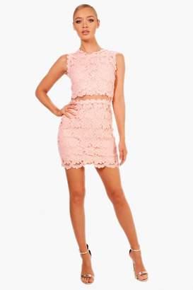 boohoo Boutique Mesh Panel Bodycon Dress