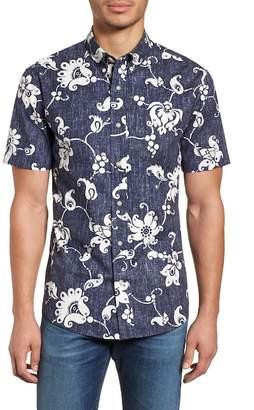 Reyn Spooner Aloha Pareau Tailored Fit Sport Shirt