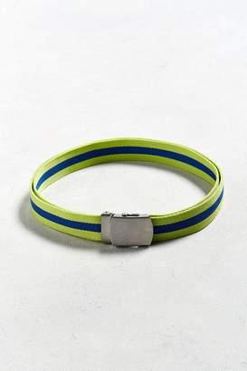 Urban Outfitters Sport Lime Stripe Web Belt