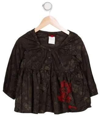 Catimini Girls' Printed Long Sleeve Top