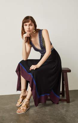 BCBGMAXAZRIA Embroidered Handkerchief Dress
