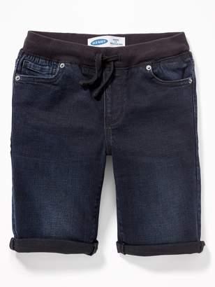 Old Navy Karate Rib-Knit Waist Built-In Flex Max Jean Shorts for Boys