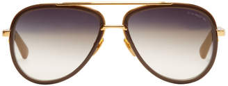 Dita Grey and Gold Mach Two Stone Sunglasses