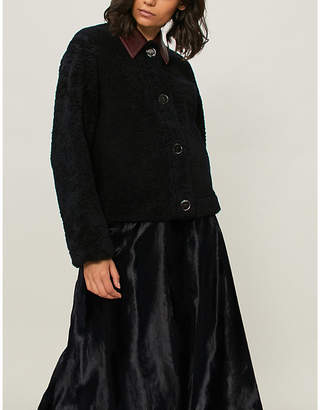 Victoria Beckham Victoria Reversible leather and shearling jacket