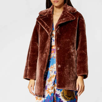 Whistles Women's Faux Fur Cocoon Coat
