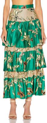 Alexis Honoka Skirt in Jade Green Orchid | FWRD