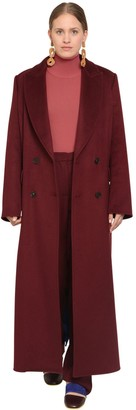 Marina Rinaldi Long Double Breasted Cashmere Coat