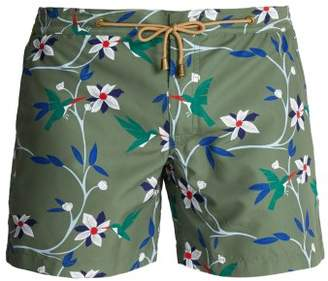 Thorsun - Titan Fit Tropical Print Swim Shorts - Mens - Green Multi