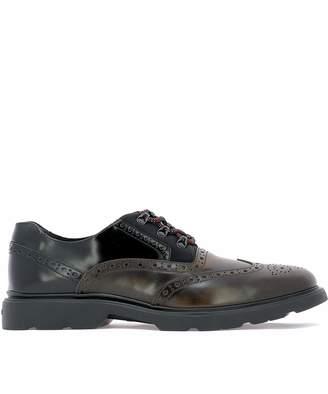 Hogan Men's Hxm3930am00jfl31hx Leather Lace-Up Shoes