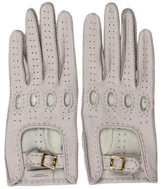 Burberry Perforated Leather Gloves