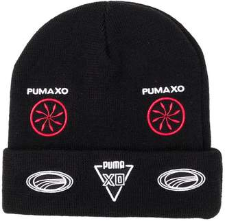 Puma folded beanie with patches