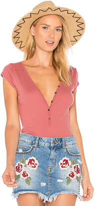 LA Made Zuzie Henley Tee in Rose $61 thestylecure.com