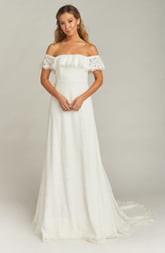 Show Me Your Mumu Karolina Off the Shoulder Lace Wedding Dress