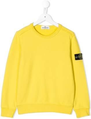 Stone Island Junior logo sleeve sweatshirt