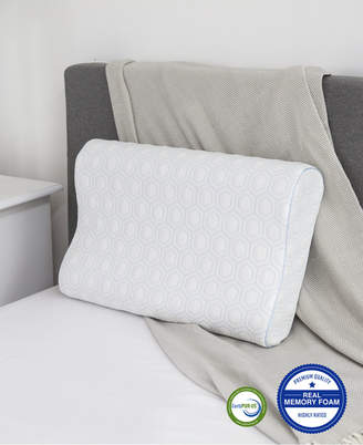 SensorGel Luxury Gel-Infused Contour Standard Memory Foam Pillow, Heat Reducing COOLcloth Cover