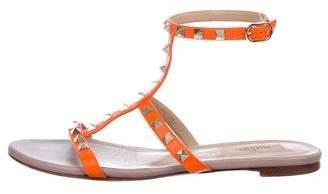 Valentino Rockstud T-Strap Sandals