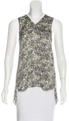 Theyskens' Theory Silk Floral Print Top