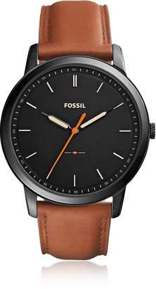 Fossil The Minimalist Slim Three-Hand Light Brown Leather Men's Watch