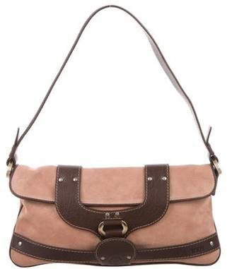 Tod's Suede & Leather Shoulder Bag