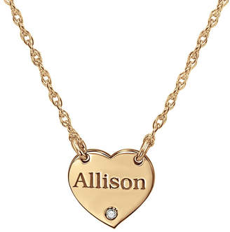 FINE JEWELRY Personalized Diamond Accent Heart Name Pendant Necklace