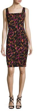 Trina Turk Bewitching Leopard-Print Sheath Dress $328 thestylecure.com