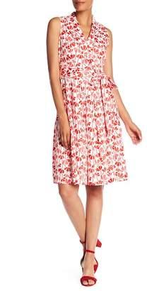 Anne Klein Floral Faux Wrap Dress