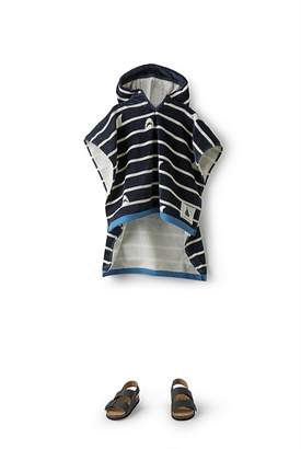 Country Road Shark Stripe Poncho