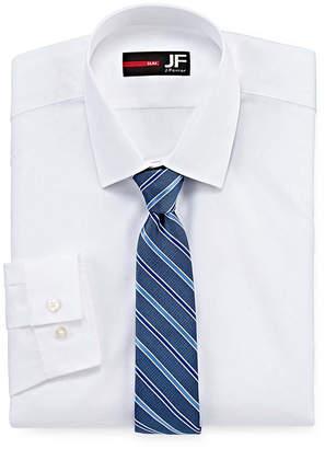 Jf J.Ferrar Jf Easy-Care Slim Fit Long Sleeve Shirtand Tie Set