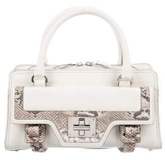 Givenchy Snakeskin-Trimmed Handle Bag