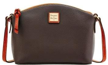 Dooney & Bourke Pebble Grain Ruby Crossbody Shoulder Bag - CHOCOLATE - STYLE