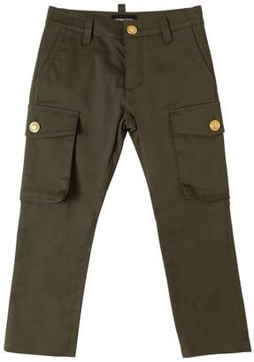 DSQUARED2 Stretch Cotton Blend Gabardine Pants