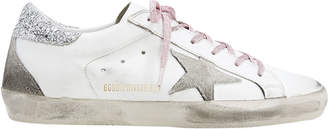 Golden Goose Superstar Pink Glitter Laces Low-Top Sneakers