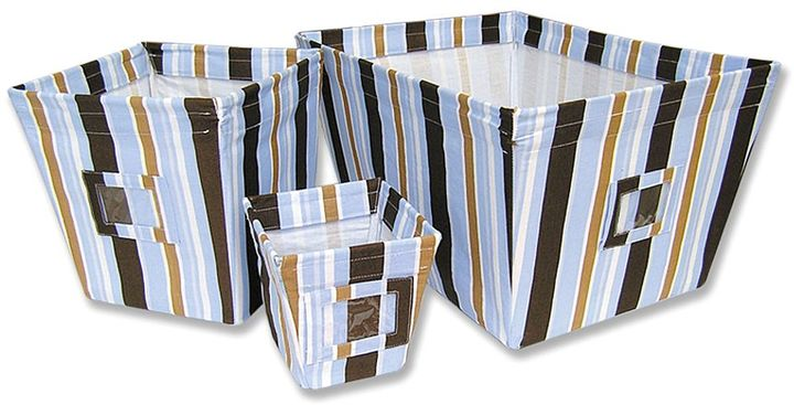 Trend Lab 3-pc. striped storage bin set