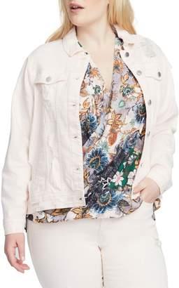 Rachel Roy Destroyed Denim Jacket