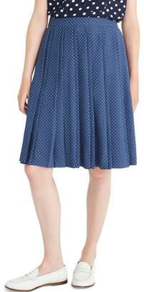 J.Crew J. Crew Dot Double Pleated Midi Skirt (Regular & Plus Size)