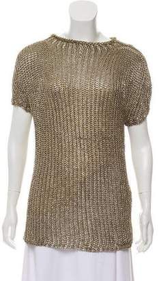 Ralph Lauren Purple Label Short Sleeve Metallic Tunic